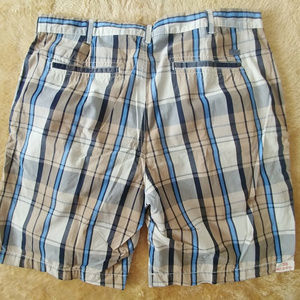 NEW Mens IZOD Plaid Causal Golf Shorts Sz 36